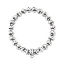 Charm Club Silver Bead Bracelet (Large)