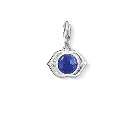 Thomas Sabo Charm Club Silver Blue Lotus Charm