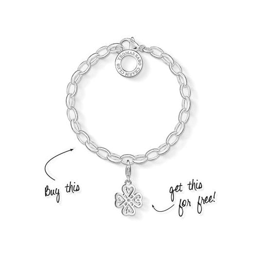 Thomas Sabo Charm Club Silver Bracelet (Small)