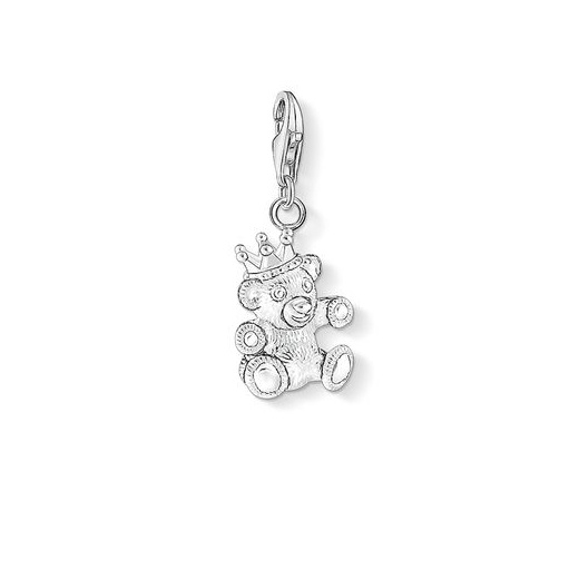 Thomas Sabo Charm Club Silver Crowned Teddy Bear Charm