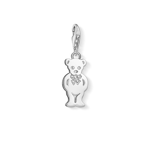 Thomas Sabo Charm Club Silver Diamond Teddy Bear Charm