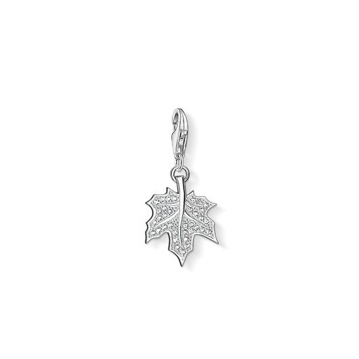 Thomas Sabo Charm Club White Pave Leaf Charm