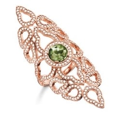 Fatima's Garden Ring with Green Stone - Size 54