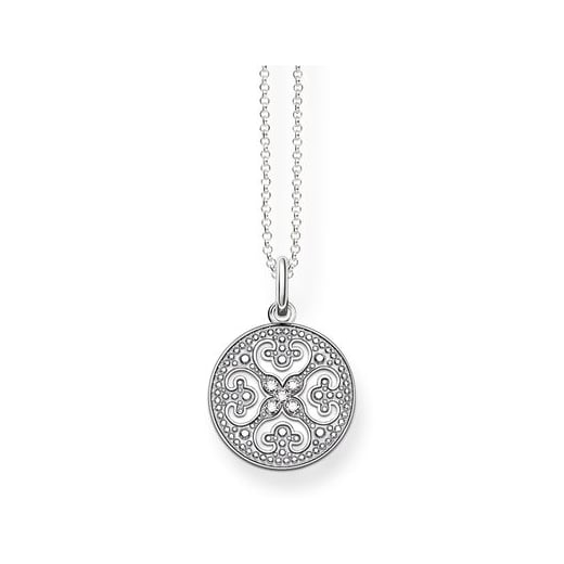 Thomas Sabo Filigree CZ Disc Necklace