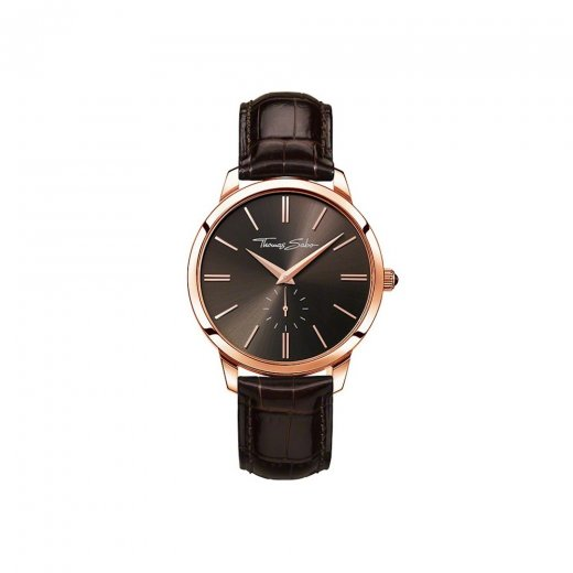 Thomas Sabo Gents Rebel at Heart Rose & Brown Strap Watch