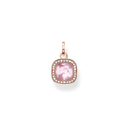 Thomas Sabo Glam And Soul Pink Synthetic Corundum Rose Gold Pendant