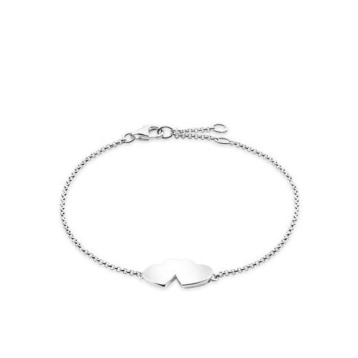 Thomas Sabo Glam And Soul Silver Double Heart Bracelet