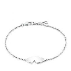 Glam And Soul Silver Double Heart Bracelet