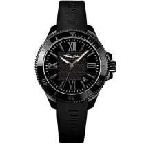 Glam & Soul Ladies Black Chronograph Rubber Strap Watch