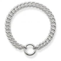 Glam & Soul Silver Curb Bracelet (Medium)