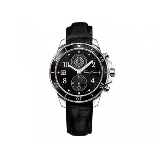 Thomas Sabo Glam & Soul Stainless Steel Black Ladies Chronograph Watch