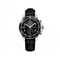 Glam & Soul Stainless Steel Black Ladies Chronograph Watch