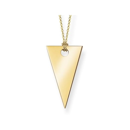 Thomas Sabo Gold Triangle Long Necklace