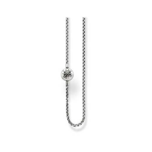 Thomas Sabo Karma Bead Blackened Necklace - 80cm