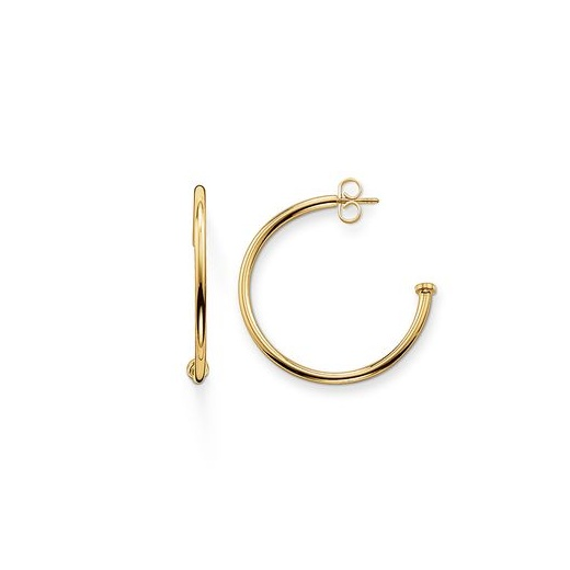 Thomas Sabo Karma Bead Yellow Gold Plated Medium Hinged Hoop