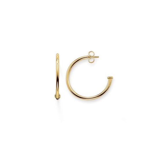 Thomas Sabo Karma Bead Yellow Gold Plated Small Hinged Hoop