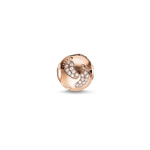 Thomas Sabo Karma Beads Baby Footprint Rose Gold Plated Bead