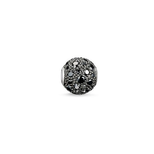 Karma Beads Crushed Pave Black Bead