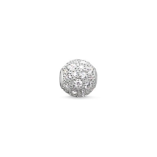 Thomas Sabo Karma Beads Crushed Pave White Bead