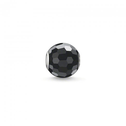 Thomas Sabo Karma Beads Faceted Black Obsidian Bead