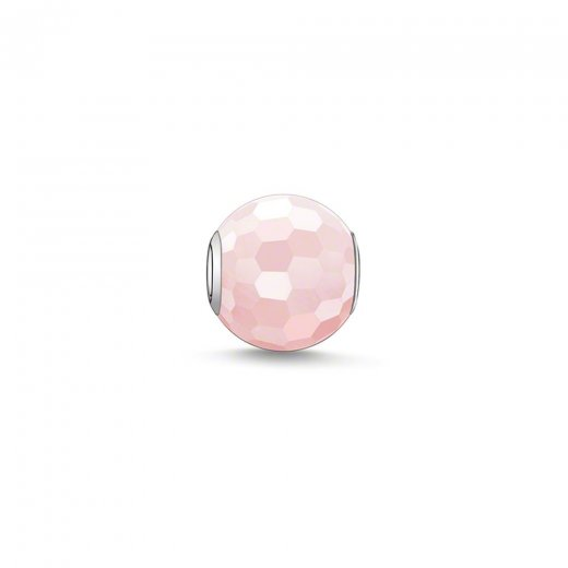 Thomas Sabo Karma Beads Faceted Rose Quartz Bead