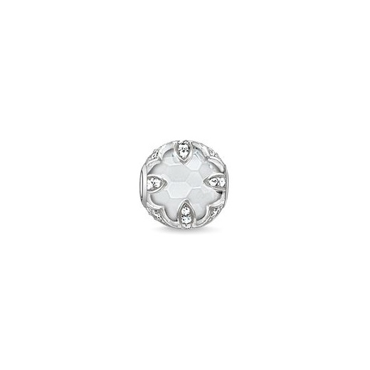 Thomas Sabo Karma Beads Milky Quartz Lotus Bead