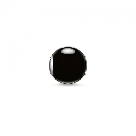Thomas Sabo Karma Beads Polished Black Obsidian Bead