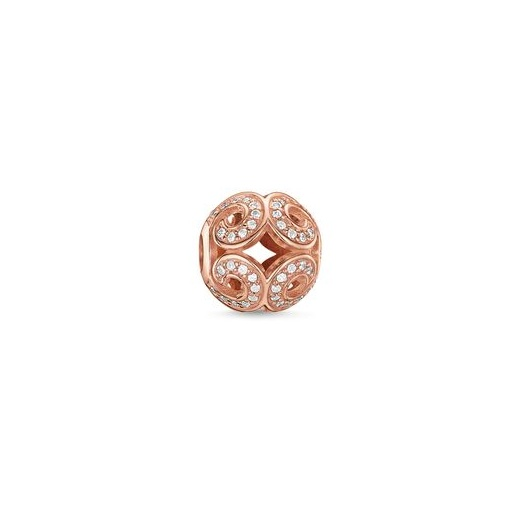 Thomas Sabo Karma Beads Rose Gold Plated Glittering Wave Bead