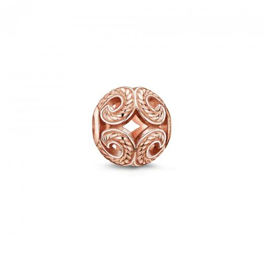 Thomas Sabo Karma Beads Rose Gold Plated Swirls Bead
