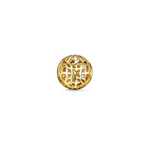 Thomas Sabo Karma Beads Yellow Gold Plated Arabesque Bead