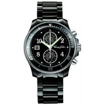 Ladies Black Ceramic Chonograph Watch
