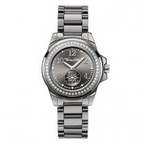 Ladies Glam & Soul Grey Ceramic Watch