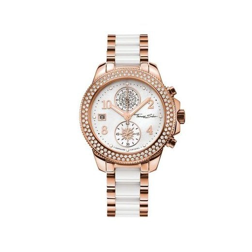 Thomas Sabo Ladies Glam & Soul Rose & Ceramic Chronograph Watch