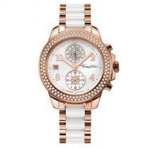 Ladies Glam & Soul Rose & Ceramic Chronograph Watch