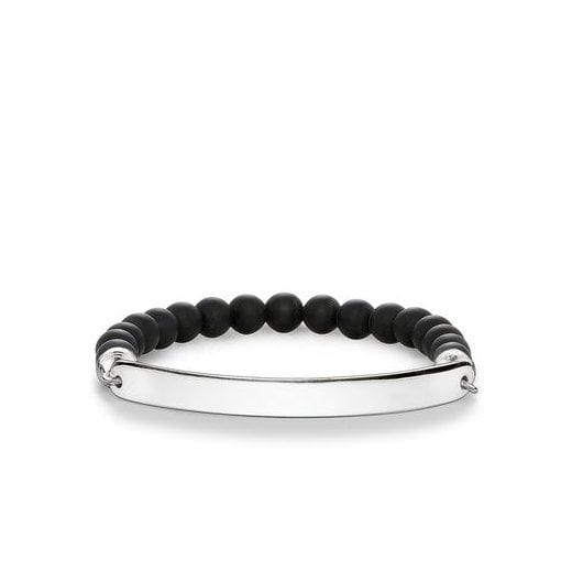 Thomas Sabo Love Bridge Black Obisdian Bracelet (Large)