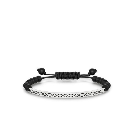 Thomas Sabo Love Bridge Black Obsidian Filigree Bridge Bracelet