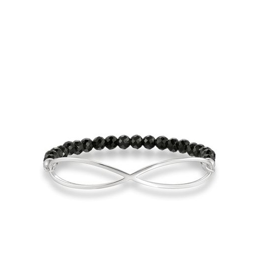 Thomas Sabo Love Bridge Black Obsidian Infinity Bracelet