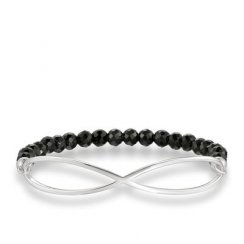 Love Bridge Black Obsidian Infinity Bracelet