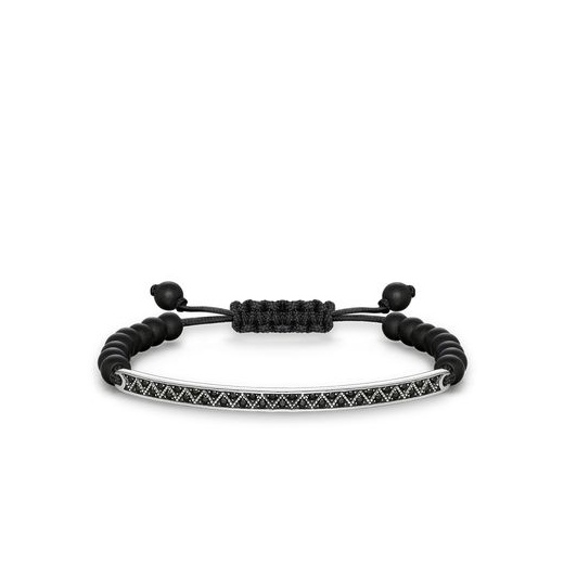 Thomas Sabo Love Bridge Black Zirconia-Pavé And Matt Black Obsidian Bracelet