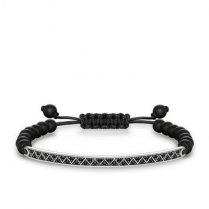Love Bridge Black Zirconia-Pavé And Matt Black Obsidian Bracelet