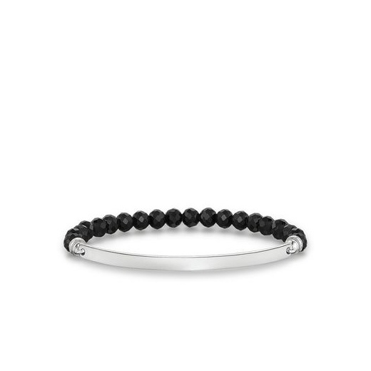 Thomas Sabo Love Bridge Facetted Black Obsidian Bracelet (Small)