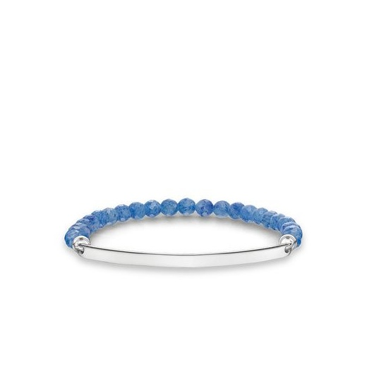 Thomas Sabo Love Bridge Facetted Dumortierite Bracelet (Medium)