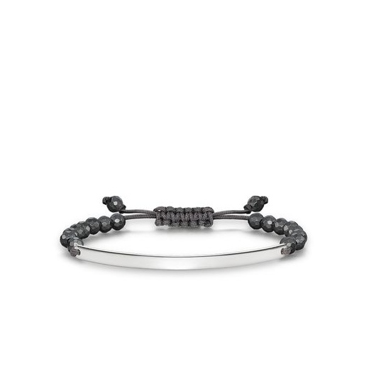 Thomas Sabo Love Bridge Facetted Haematite Adjustable Bracelet