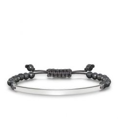 Love Bridge Facetted Haematite Adjustable Bracelet