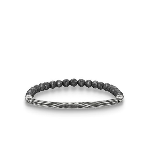 Thomas Sabo Love Bridge Facetted Haematite Blackened Silver Bracelet