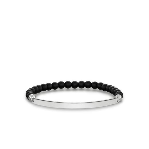 Thomas Sabo Love Bridge Matt Black Obisidan Bracelet