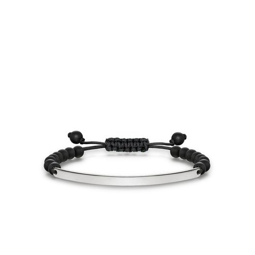 Thomas Sabo Love Bridge Matt Black Obsidian Adjustable Bracelet