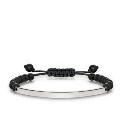 Love Bridge Matt Black Obsidian Adjustable Bracelet