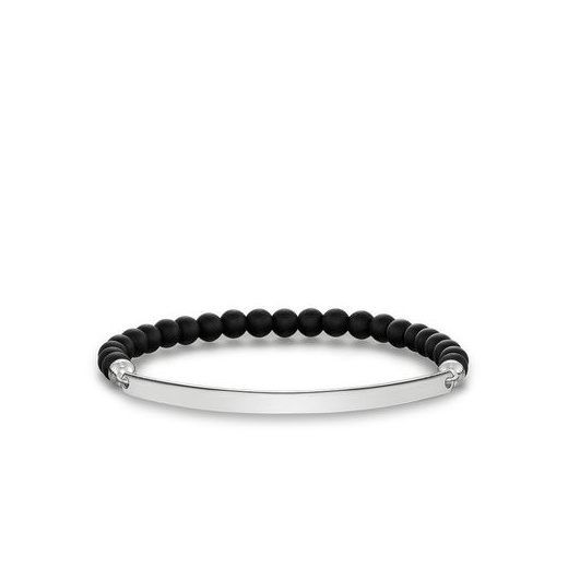 Thomas Sabo Love Bridge Matt Black Obsidian Bracelet (Large)