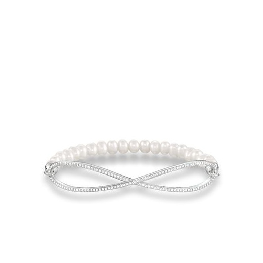 Thomas Sabo Love Bridge Pearl Infinity Bracelet